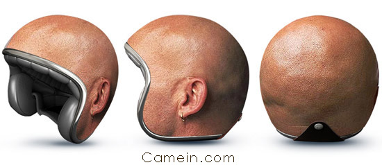 Crazy bike helmets