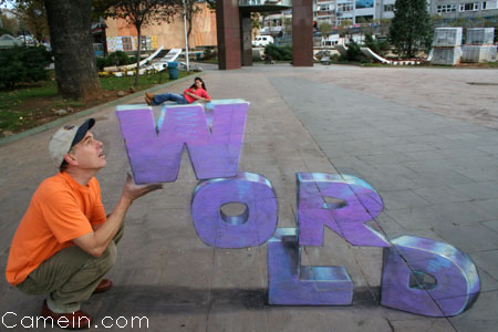 3D Perspective street art, by Julian Beever !