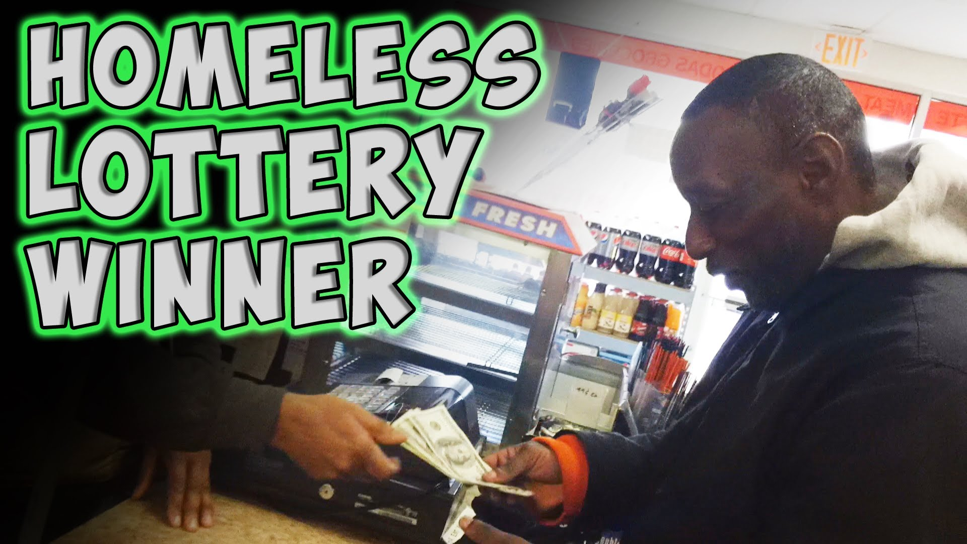 A Homeless Man Wins The Lottery In A Beautiful Way With A