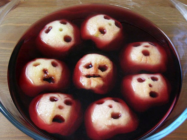 Halloween Apple faces