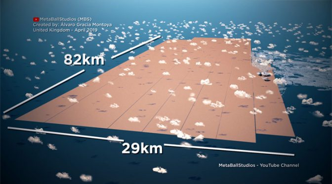 An animated perspective of 8 billion people compared to all domestic animals on Earth