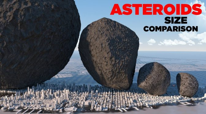 Size comparison of known Asteroids in Our Solar System